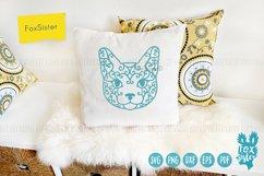 Cat face Svg, Dxf, Eps, Png, Pdf cut file Product Image 3