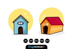 Dog House Clipart Product Image 1