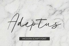 Web Font Adeptus Font Product Image 1