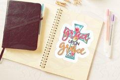 Christian Grace Upon Grace Sticker Design 300 dpi png, cross Product Image 3
