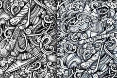 Winter Sports Graphics Doodle Patterns Product Image 4