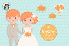 Wedding characters clipart Product Image 6