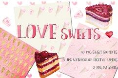 Love watercolor bundle. Valentine. Product Image 6