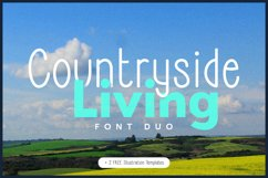 Countryside Living | A Farmhouse Font Duo with FREEBIES Product Image 1
