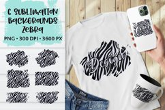Sublimation Zebra Skin Animal Distressed Backgrounds Bundle Product Image 1