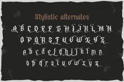 Old Biker. Gothic style vintage label font. Product Image 4