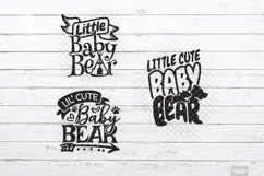 Baby Bear SVG Little Cub in SVG, DXF, PNG, JPEG Product Image 4