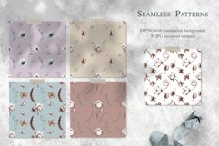 Cotton & Anemones Seamless Patterns Product Image 2