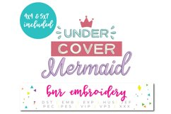 Mermaid Machine Embroidery Design Product Image 1
