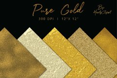 Gold foil digital papers Product Image 5