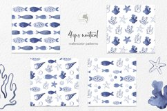 Marine watercolor clipart Product Image 3