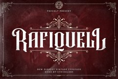 Rafiquell - Victorian Decorative Font Product Image 1