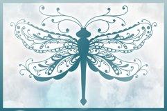 Beautiful Intricate Dragonfly Mandala Zentangle SVG Product Image 5