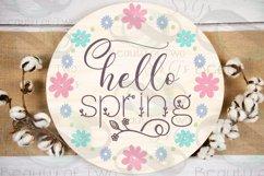 Farmhouse Spring SVG Round Svg Sign Bundle, 6 svg cut files Product Image 6