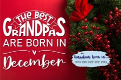 The best grandpas are born in December design Product Image 3