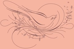 Calligraphic Birds Family Pack Product Image 1