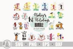 Baby svg bundle, Baby first holidays svg bundle, My 1st svg Product Image 1