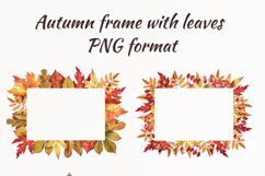 Watercolor autumn leaves, clipart Product Image 2