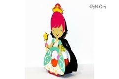 Princess Easter egg holder design SVG / DXF / EPS files. Product Image 2