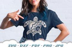 Mandala Sea Turtle SVG DXF Cut Files Bundle Product Image 6