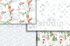 Little Skater Christmas Background Pattern Product Image 2