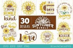Sunflower SVG bundle 30 designs sunshine SVG bundle Product Image 5