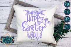 Happy Easter Y'all - An Easter Cut File Product Image 1