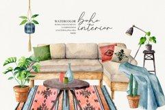 Watercolor boho interior Product Image 1