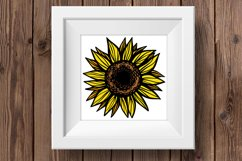 Sunflower PNG Sunflower clipart Sunflower shirt Sublimation Product Image 3