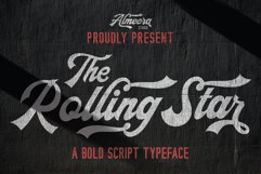 The Rollingstar - Stylish Bold Script Product Image 1