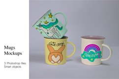 Mugs Mockups. 3 PSD files with smart objects. Product Image 1