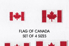 Flag of Canada Machine Embroidery Download Design Product Image 1