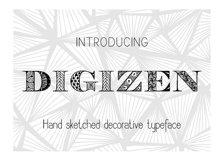 Digizen Font Product Image 2