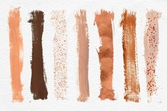 Copper Brush Strokes Clipart Product Image 2