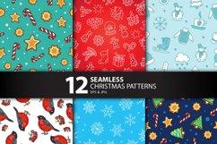 12 Seamless Christmas Patterns Product Image 2