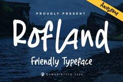 Rofland - Handwritten Typeface Product Image 1
