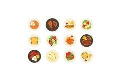 Bundle Food Dish on Flat Illustration Product Image 1