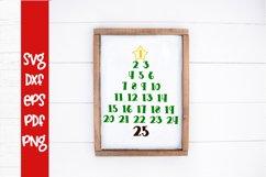 Christmas Tree Countdown SVG - Christmas SVG - Countdown SVG Product Image 1