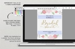 Gold welcome bridal shower sign, Welcome printable, DAD_24 Product Image 5