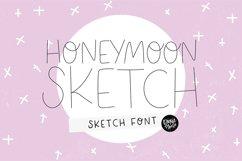 """HONEYMOON SKETCH"" Sketch Font - Single Line/Hairline Font Product Image 1"