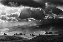 Black and white Seiser Alm on a dramatic day Product Image 1