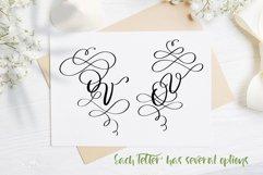 Love Story Monogram Font Product Image 5