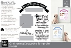 Christening Keepsake Template - SVG & Cut Files for Crafters Product Image 2