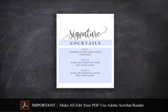 Signature Cocktail Sign Wedding Product Image 3