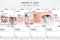 Instagram Post Carousel for Canva | Slideshow | Watercolor Product Image 3