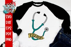 Essential Worker Doctor Nurse Stethoscope SVG Product Image 4