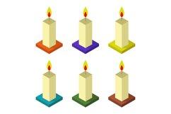 isometric candle Product Image 1