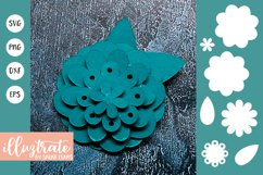Paper Flower Template Bundle | Paper Cutting Bundle SVG Product Image 4