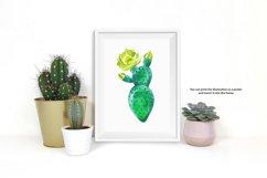 Watercolor succulents set Product Image 5