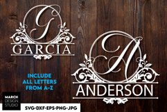 Split Monogram SVG, Monogram Font SVG, Monogram Fonts SVG Product Image 3